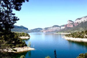 Spanien Motorradreise - am See