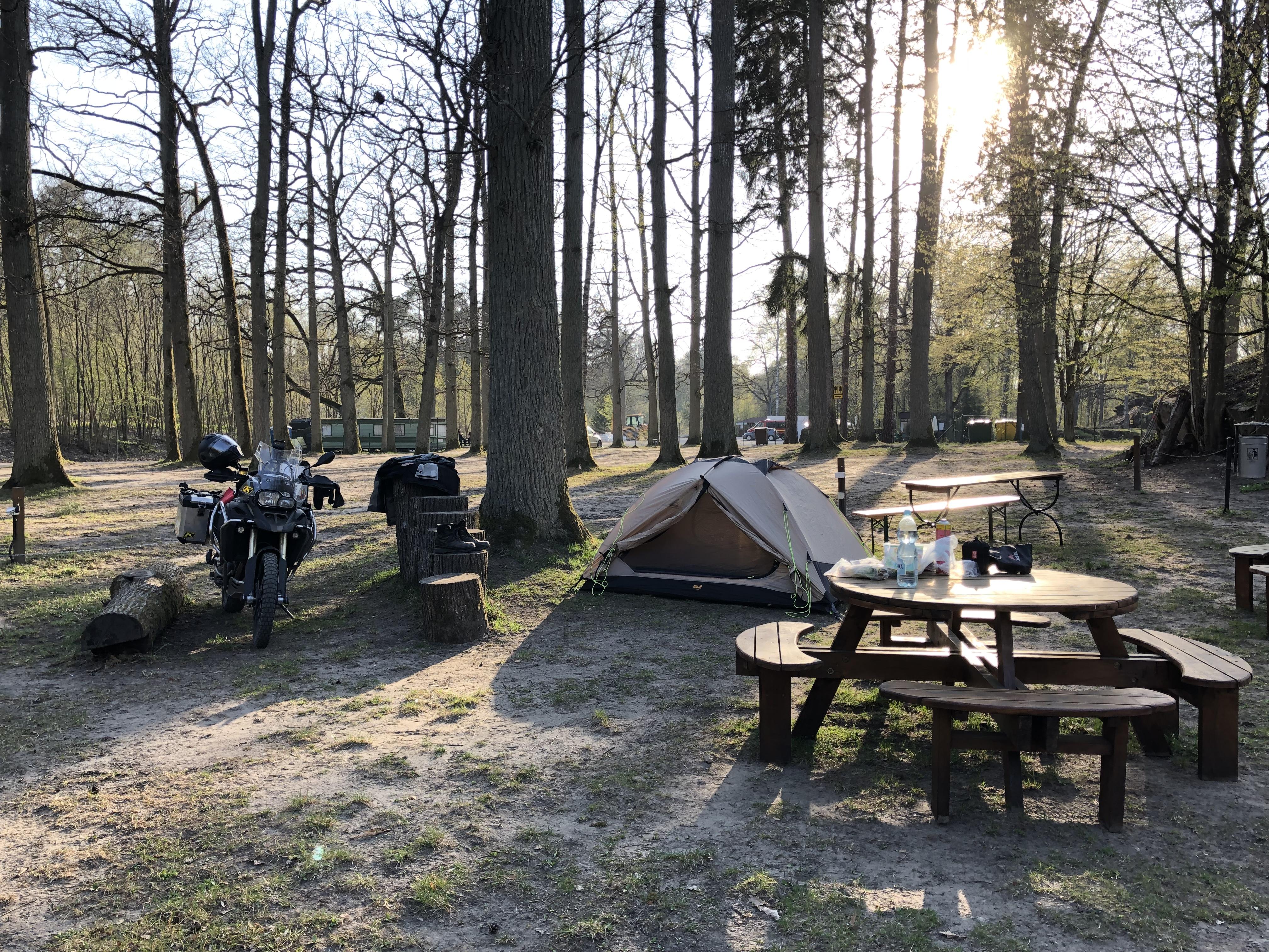 Motocamp an der Wolfsschanze Polen Traneurotrail